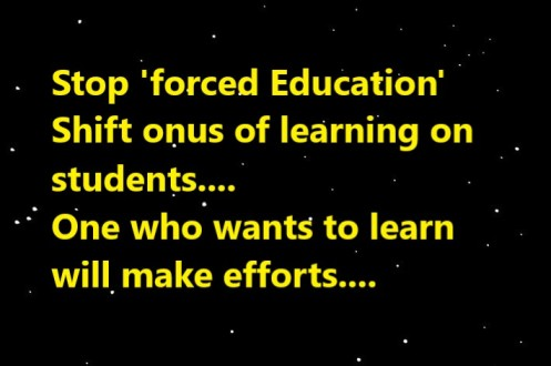 forced education
